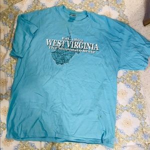Blue West Virginia tee shirt
